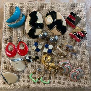 Jewelry - 13 Pair Lot Mix Metal Pierced Earrings Multi Color